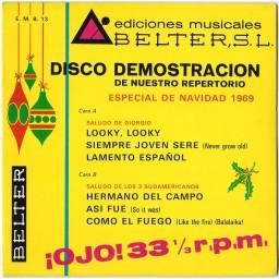 DISCO DEMOSTRACION - ESPECIAL NAVIDAD 1969
