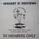 JANUARY 87 PREVIEWS (DJ MEMBERS ONLY)