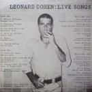 LEONARD COHEN LIVE SONGS